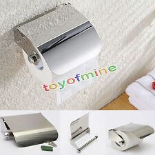 Stainless Steel Bathroom Toilet Paper Holder Roll Tissue Box Wall Mounted Holder