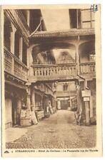 strasbourg , hôtel du corbeau , la passerelle vue de l'entrée
