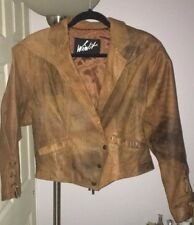 Vintage Winlit 100% Genuine Leather Camel Color Jacket