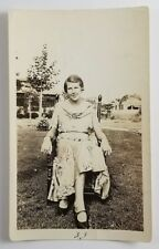 Vernacular Photograph Woman Wearing Silky Dress Vintage Fashion 1933 New Jersey