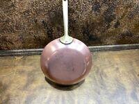 """Vintage Copper Paul Revere Ware Signature Skillet Saute Fry Pan 8.5"""" Cookware"""
