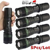 5XUltrafire Tactical 20000Lumens Flashlight Torch Lamp XML T6 LED Zoomable 18650