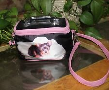 Childs Kids Cosmetic or Makeup Train Case with Yorkie Puppy Dog Sb12