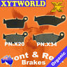 FRONT REAR Brake Pads for HONDA CR 125 RS/RT/RV 1995 1996 1997