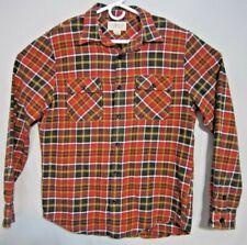 Ralph Lauren Mens Denim & Supply Red Orange Blue White Flannel Size Large L