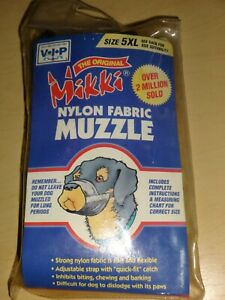 Original Mikki Nylon Dog Pet Muzzle, Size 5XL, Large Dogs