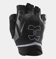 Under Armour Men's UA Flux Half Finger Workout Gloves Fitness Black or Gray