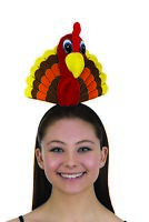 Thanksgiving Turkey Head Fun Trot Headband Hat Holiday Party Costume Accessory