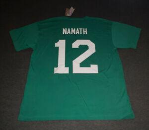 Mitchell & Ness NEW YORK JETS 1968 Joe Namath Green AUTHENTIC  Throwback T SHIRT