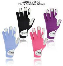 Ladies Women Girls Gardening Leather Gloves Thorn Proof Garden Work Gloves NEW