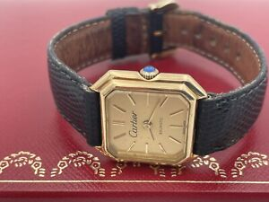 Vintage Ladies 18kt Solid Gold Cartier Automatic  Watch