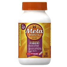 2 Pack - Metamucil 3 in 1 Psyllium Fiber Supplement Capsules 160 Each