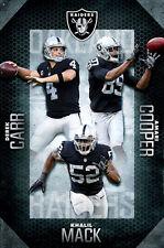 Oakland Raiders SUPERSTAR TRIO POSTER (Khalil Mack, Derek Carr, Amari Cooper)
