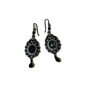 Drop Earrings Gorgeous Black &blue