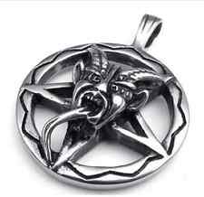 Pendant Inverted Pentagram Devil Baphomet Antichrist Punk Gothic Satan Lucifer