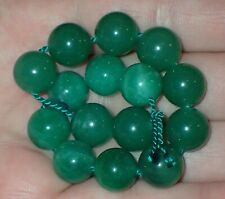 15 Green Indo - Tibetan, Tibet Jade beads, 11.5-12mm, #S2587