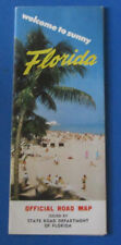 VINTAGE FLORIDA ROAD TRAVEL MAP STATE ISSUE--VERY CLEAN