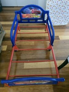 Lightning mcqueen toddler bed and baby love mattress and chair