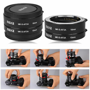 Meike MK-S-AF3A 10mm+16mm Macro Extension Tube Ring Adapter for Sony E/FE NEX5 6