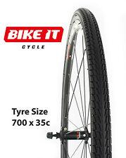 NEW PRO-AIR CYCLE TYRE 700 x 35c - STREET PATTERN TOUR HYBRID TOWN COMMUTER BIKE