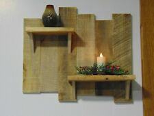 Rustic wooden shelf, natural reclaimed wood ,with keyhole mounting
