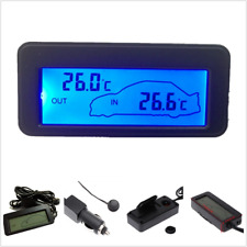 12V LCD Digital Temperature Meter Indoor Outdoor Sensor Car Auto Thermometer New
