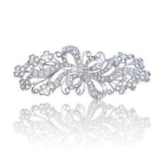 Vintage Style Rhinestones Bridal Wedding Bouquet Shiny Diamante Brooch Pin BR324