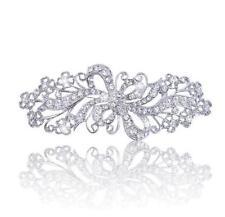 Vintage Style Rhinestones Bridal Wedding Bouquet Shiny Diamante Brooch Pin BR324