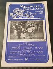 Millwall v Birmingham City Programme 16/02/57
