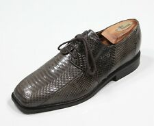 Giorgio Brutini Gray Genuine Snakeskin Lace-Up Oxford Dress Shoes Men's 9 M