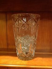 large exquisite fine clear cut crystal vase.Vintage from around 1970s.Impeccable