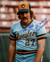 1982 Pete Ladd Milw Brewers signed photo w/ 25 SAVES 1983 AUTO 8x10 Milwaukee