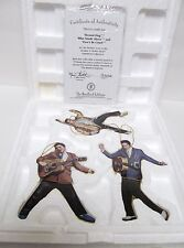 Bradford Rockin' 'N' Rollin' Elvis Presley Set Of 3 Ornament Collection W Coa #1