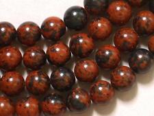 "Gemstone Mahogany Obsidian 8mm Round Loose Beads 15"" Full Strand"