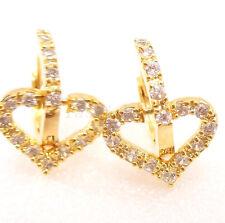 fashion1uk Transparente Diamante Sintético 18ct baádo en oro amarillo Lujo