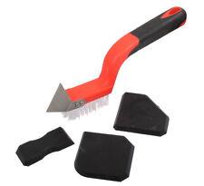 ProDec 4pc Caulking Silicone Tool Kit Nylon Brush Scraper Edging Tools (PLDT010)