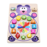 School Child's Supplies Learning Toy Matching Block Cute Game Digital Clock Toy