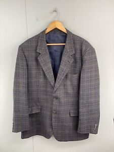 Paul Mason Mens Vintage Lined Sportscoat Button Up Blazer Size 42R Brown Tweed
