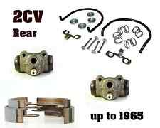 1949 to 1965 Citroen 2CV Rear Brake Kit: 2 cylinders, brake shoes, install kit