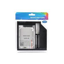 """SATA 3.0 9.5mm Universal SATA 2nd HDD/SSD 2.5"""" Hard Drive PlasticMaterial Black"""