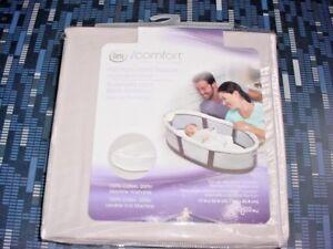 2 SERTA iCOMFORT PREMIUM INFANT SLEEPER REPLACEMENT SHEET - GRAY - RC 582