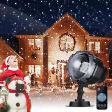 Projecteur Noël LED Effet Flocon De Neige Lumières Décoration Avec Control Fb