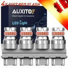 4X 3157 3057 Red Strobe LED Signal Brake Tail Light Bulbs Blink Flash For Chevy