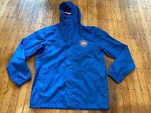NWT Chicago Cubs Hooded Rain Coat Jacket by G-III Unisex Medium 100% Polyester