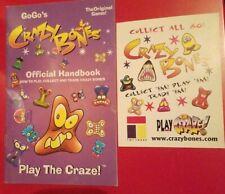 1 GoGo's Crazy Bones Handbook with 1 small card