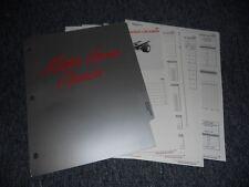 1990 CHEVROLET MOTOR HOME CHASSIS DEALER ALBUM SHEETS B