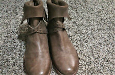 NWOB Free People Alamosa Ankle Boot,US 7-7.5- Taupe- Distressed Leather- $10 Drp