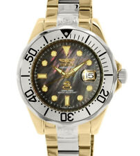 Invicta16034 Grand Diver Automatic Mother ofPearl Dial Two Tone S/S Diving Watch