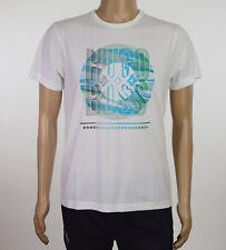 HUGO BOSS Green Label Mens White Regular Fit Logo Graphic T-Shirt M