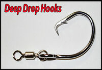 Deep Sea Hooks. 13/0 Stainless Tuna Circle Dropline Hooks x 10 BLUEEYE. Gemfish